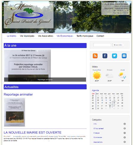 Le nouveau site de la commune de Saint Priest de Gimel est en ligne