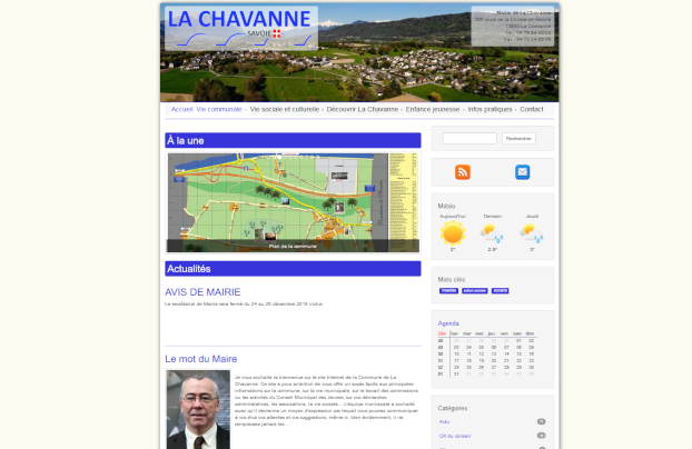 Le site de la commune de La Chavanne est en ligne