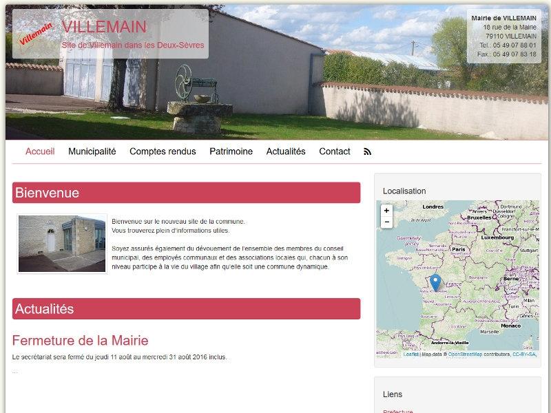 Le site de la commune de Villemain est en ligne